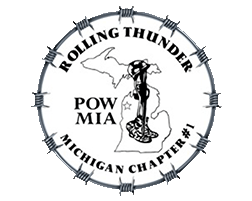 Present by Rolling Thunder POW/MIA Michigan Chapter #1